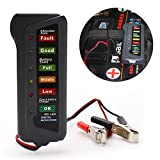 Generic Mini 12V Automotive Car Battery State Tester Alternator State Check Detector with 6 LED Digtal Display Two Clips Easy to Use