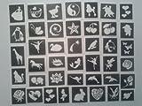 50 Mädchen Tattoo Schablonen für Glitzer Tattoos / body art / Airbrush Spendenaktionen