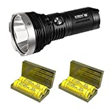 Combo: Acebeam K65 Cree XHP70.2 LED De-Domed 6200 Lumen Flashlights w/4x Nitecore 35A 18650 batteries & 2x Eco-Sensa battery cases