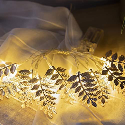 LED-Licht,TwoCC Festival Dekoration Golden Blätter Licht 2M 10LED -