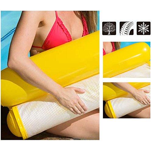 Wasser Hängematte Pool Lounger Faltbare Float Hängematte Aufblasbare Flöße Air Floating Stuhl Dual-Use Rückenlehne Pool Pool Matte für Erwachsene und Kinder mit kleine Pumpe
