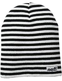 Neff Unisex Neff Duo Stripe Beanie Red Black Duo Stripe
