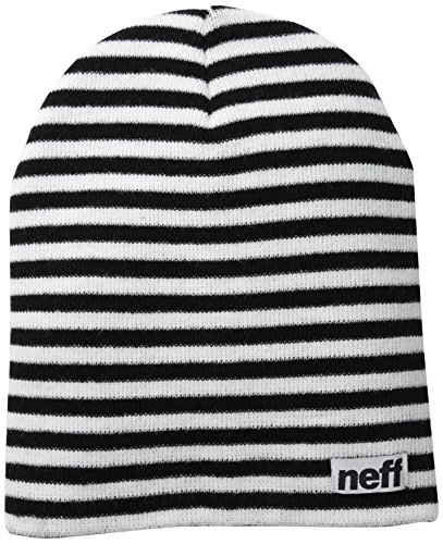 Neff Duo Stripe Mütze Rasta Einheitsgröße schwarz/weiß