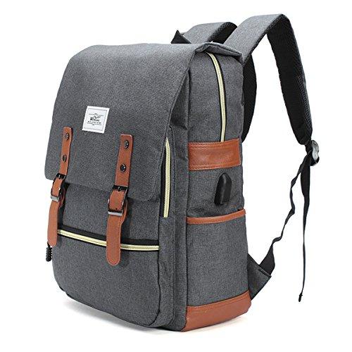 Zaino canvas esterna, borse a tracolla per uomini e donne borsa del portatile borsa da viaggio dello zaino sportiva ciclismo escursionismo campeggio zaino multifunzionale impermeabile di nylon