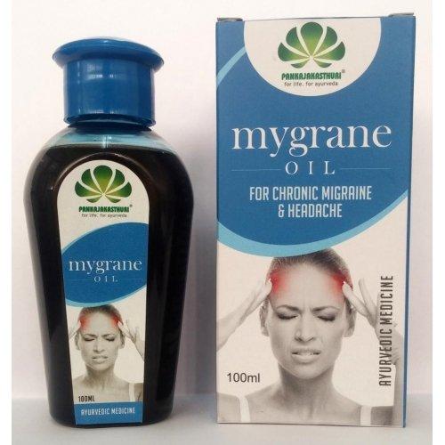 Pankajakasthuri Mygrane Oil for Chronic Migraine and Headache (100 Ml)