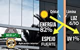 FOLIX ? VISTA 90 ? Alta Calidad ? Lámina solar AZUL/PLATA, efecto espejo, contra los rayos ultravioleta del sol. Corte a medida! (76 x 150 cm)