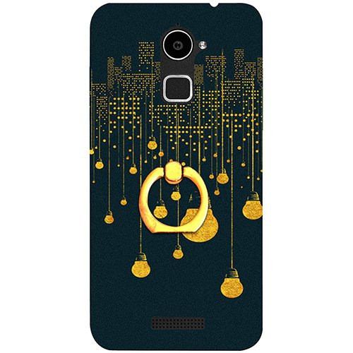 Casotec City Light Pattern Design 3D Printed Hard Back Case Cover with Metal Ring Kickstand for Coolpad Note 3 Lite