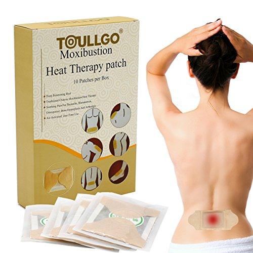 Wärmepflaster, Wärmepads, Wärmekissen, Moxibustion Heizung Körperwärmer, 10er Pack Körperwärmer 12 h selbstklebend Wärmetherapie Patches für Arthritis/Hals Schultern/Rücken Schmerzlinderung (2)