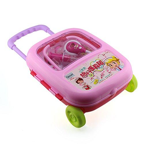 Tipmant Jungen Mädchen Arzt medizinische Kits Spielzeug Vorgeben Rollenspiel Set Kofferpaket Für Kinder Geschenk (Rosa) (Kind Arzt Kit)