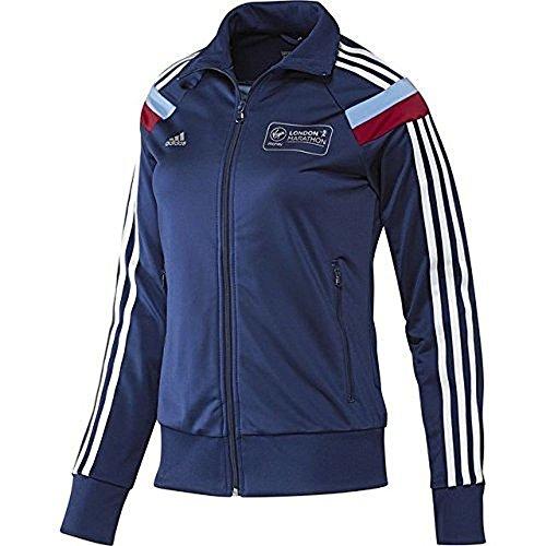 adidas 2014 virgen London Marathon mujer reactivaciones chaqueta de chándal RP 50 libras, color Azul - azul marino, tamaño large