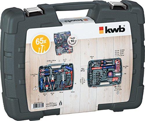 kwb Werkzeugkoffer 370730 (65-teiliger Inhalt, ideal für den ambitionierten Hausgebrauch, im praktischen Kunststoffkoffer) - 3