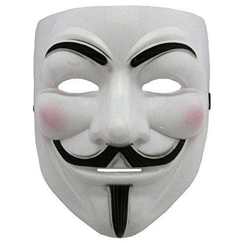 Boolavard 2015 V für Rache Maske mit Eyeliner Narice Anonymous Guy Fawkes Phantasie Erwachsene Kostüm Zubehör Halloween Maske ()