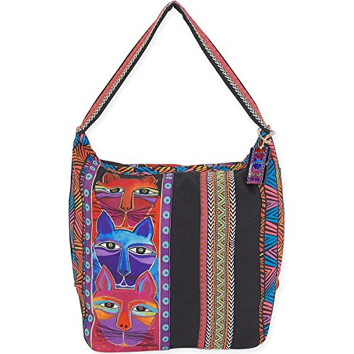 laurel-burch-stacked-statuina-della-volpe-con-motivo-di-laurel-burch-tote-in-acrilico-multicolore