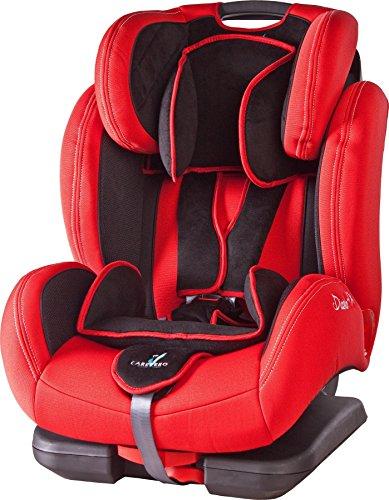 Caretero DiabloFix mit ISOFIX Kindersitz Kinderautositz Gruppe 1/2/3, 9-36kg, Red