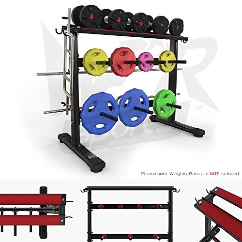 We R Sports Dumbbell & Weight Plate Storage Rack Stand Holder Home Gym Workout