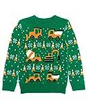 Shirtgeil Weihnachtspullover Kinder Jungen Traktor & Bagger Gestrickt Strickpullover 96-104
