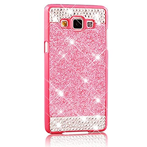 Galaxy A5 Case,Premium Crystal Rhinestone Bling Case for Samsung Galaxy A5 SM-A500F, 0.8mm Ultra-thin Hard Plastic Back Cover Bumper Shock-Absorption Anti-Scratch Protective Slim Skin Cover Sparkly Twinkling Housing