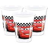 Procos 87104–Vasos Plástico Cars formula, 200ml, 8unidades), multicolor