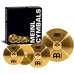 Meinl HCS Cymbal Set Up 14-inch Hihat 16-inch Crash 20-inch Ride