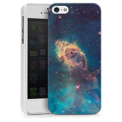Apple iPhone X Silikon Hülle Case Schutzhülle Space Muster Carina Nebel Hard Case weiß