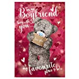 Me To You Bear 3D Holographic Boyfriend Valentines Day Card