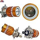 BLP H4 Bike Motorcycle Led Headlight Bulb Multicolor for CD-Delux/Passion/CB-Shine/CT-100/Splender/Discover All Bikes,