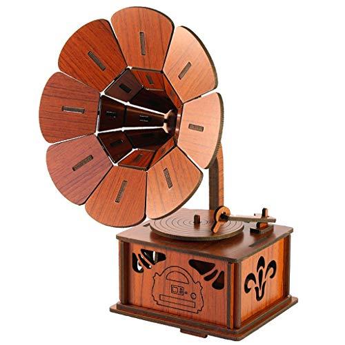 ZYFG- Handwerk DIY Phonograph Spieluhr Persönlichkeit Wohnzimmer Gedenk Geschenk Hause Erwachsene Hochzeit Halloween Geburtstag Weihnachtsfeier Karneval