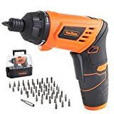 VonHaus 3.6V Cordless Screwdriver Pivot Handle Lithium-Ion LED Light 50pc Accessory Kit Bit