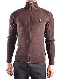 Fred Perry Homme MCBI128158O Marron Coton Sweatshirt