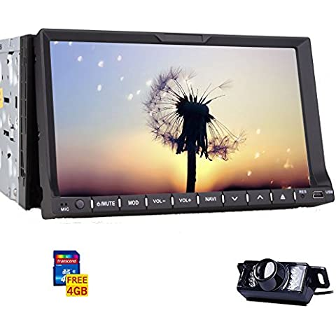 CD Bluetooth Radio Receptor GPS Map 3D Multimedia Car Audio System DVD piezas FM AM vídeo Autoradio 2 DIN Vehículo pantalla táctil de 7 pulgadas estéreo ganar 8 cámara de reserva Aux