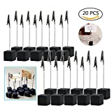 Dproptel 20pcs Memo Clip Holder Stand Photo Display Clip with Alligator Clasp for Pictures Card Paper Note Clip - Shop Display Price Tag - Black