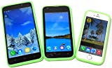 PRESKIN - Silikon Case Cover Bumper, Universal Schutz-Hülle für alle Smartphones 4.0 bis 5.7'' Zoll, Grip und Schutz, Glow in The Dark Frame, stoßabsorbierender Silikon-Rahmen mit Leucht-Effekt