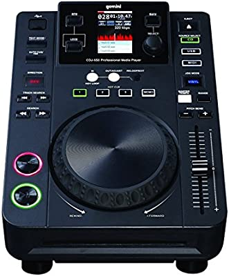 Gemini CDJ-650 - Reproductor de CD (CD), color negro