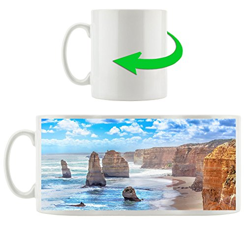 Rugged Coastline Motif Cup In White Ceramic 300ml Great Gift Idea For Any Occasion Your New Favorite Mug For Coffee Tea And Hot Drinks Buy Online In Aruba At Aruba Desertcart Com Productid