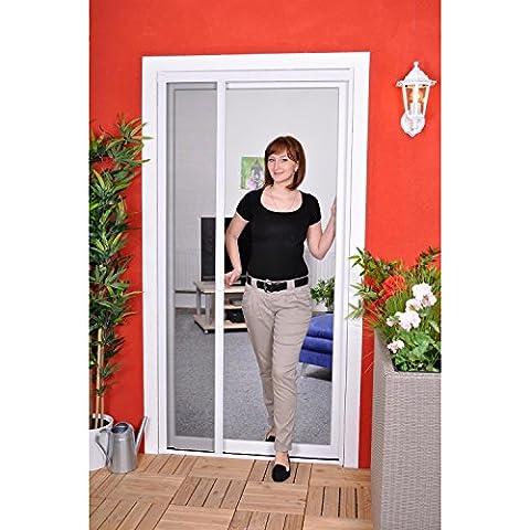 Slim Rollo - Fliegengitter für Tür als Rollo - Insektenschutzrollo Fliegengitterrollo Smart - 125 x 220 cm