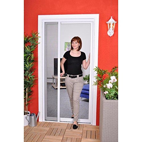 Slim Rollo - Fliegengitter für Tür als Rollo - Insektenschutzrollo Fliegengitterrollo Smart - 125 x 220 cm (weiß) -