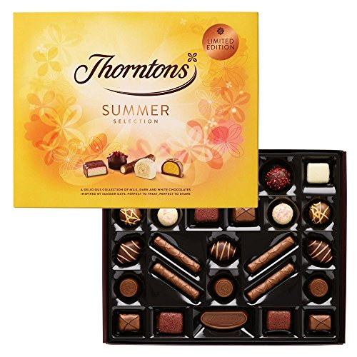 Thorntons Chocolate Summer Selection Box 303g 26 Chocolates Milk, White & Dark Limited Edition