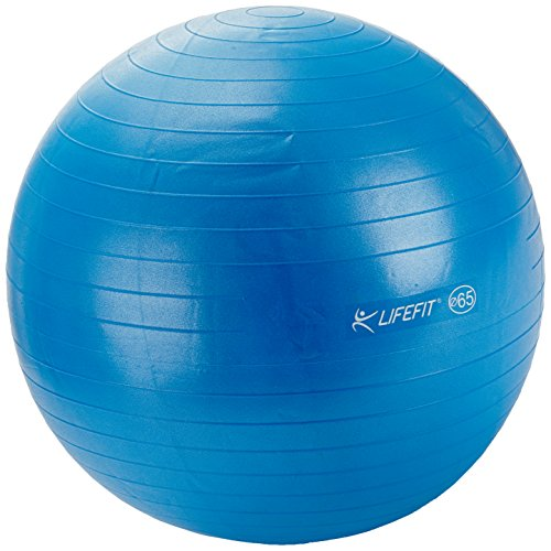 LIFEFIT Gymnastikball Anti-Burst, Blau, 75 cm