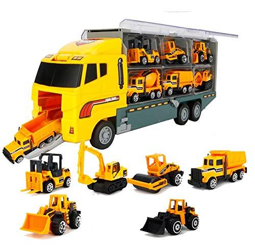 Spiel AG Truck XXL LKW mit 6 Baufahrzeugen Abfahrtsrampe Bagger UVM - Bagger