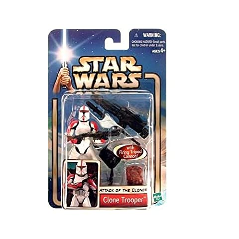 Star Wars Attack of The Clones Red Striped Clone
