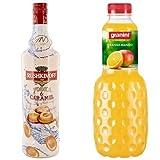 RushkinoffWodka&Caramel(1x1l) mit Granini Trinkgenuss Orange-Mango (6 x 1 l)
