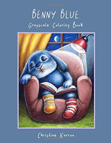 Benny Blue Grayscale Coloring Book por Christine Karron