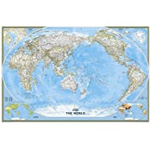 World Classic, Pacific Centered, laminated : Wall Maps World: PP.NGW1020324 (Reference - World)