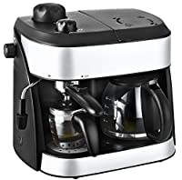 KALORIK 3-in-1 Combi Coffee and Espresso Machine, 1800 W, Black/Silver
