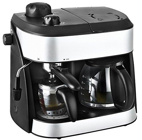 Kalorik 3 in 1 Espressoautomat für bis zu 4 Tassen Espresso und 10 Tassen Kaffee, 3,5 bar,...