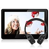 10,1' HD 1080P Touchscreen Kopfstütze Monitor Auto DVD Player NAVISKAUTO TFT LCD Bildschirm FM HDMI Funktion/ USB/ SD Medien/ Schwarz+Silber Rahmen CH1004S