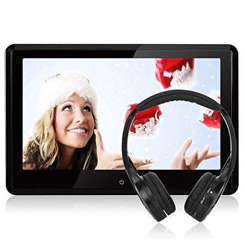 "10,1"" HD 1080P Touchscreen Kopfstütze Monitor DVD Player Auto NAVISKAUTO TFT LCD Bildschirm FM HDMI Funktion/ USB/ SD Medien/ Schwarz+Silber Rahmen CH1004S"