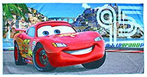 Disney Bambini Cars DISC52474252telo mare microfibra di poliestere 140x 70cm