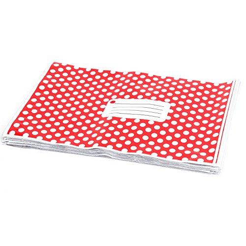 50pz 15,2x 22,9cm 150mm x 230mm rosso a pois plastica Strong autosigillanti buste postale
