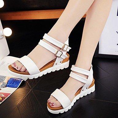 LvYuan Da donna-Sandali-Tempo libero Ufficio e lavoro Formale Casual-Altro Club Shoes pattini delle coppie Comoda Ballerina Con cinghia White